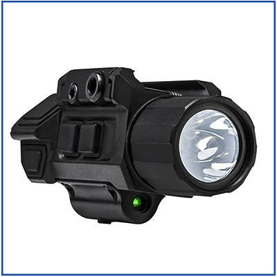 VISM - LED Pistol Flashlight with Strobe/Green Laser
