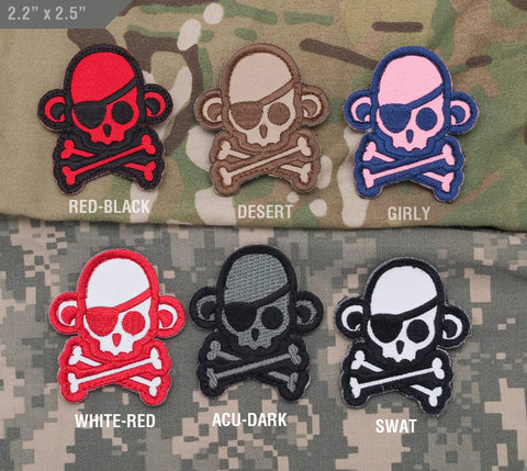 Skull Monkey Patch - Pirate