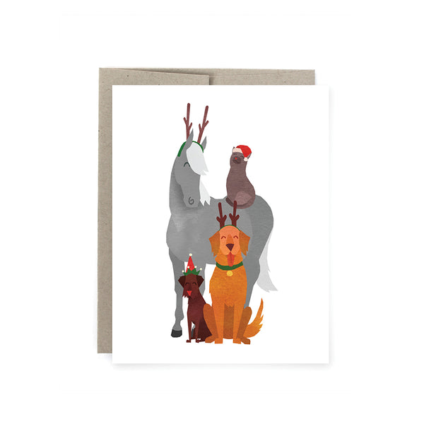 Antler Crew Holiday Card