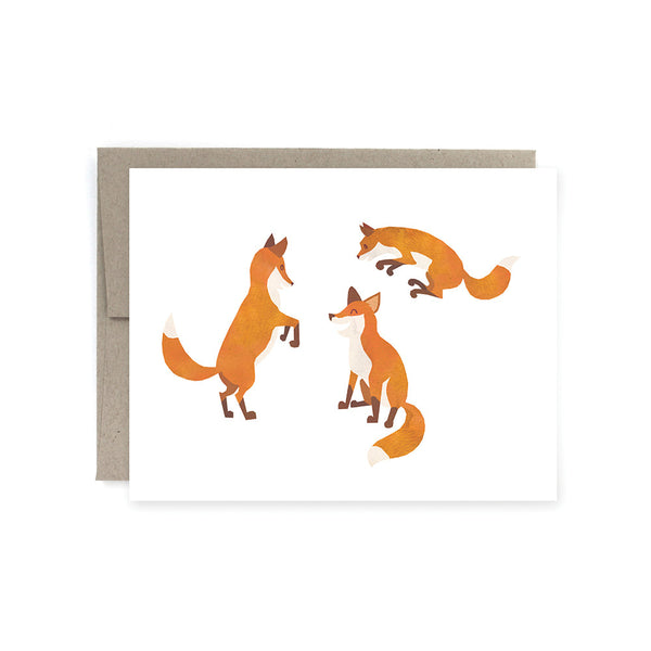 Fox Pups Card