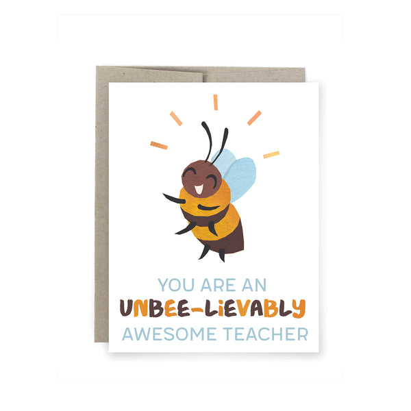 Bee Teacher Card