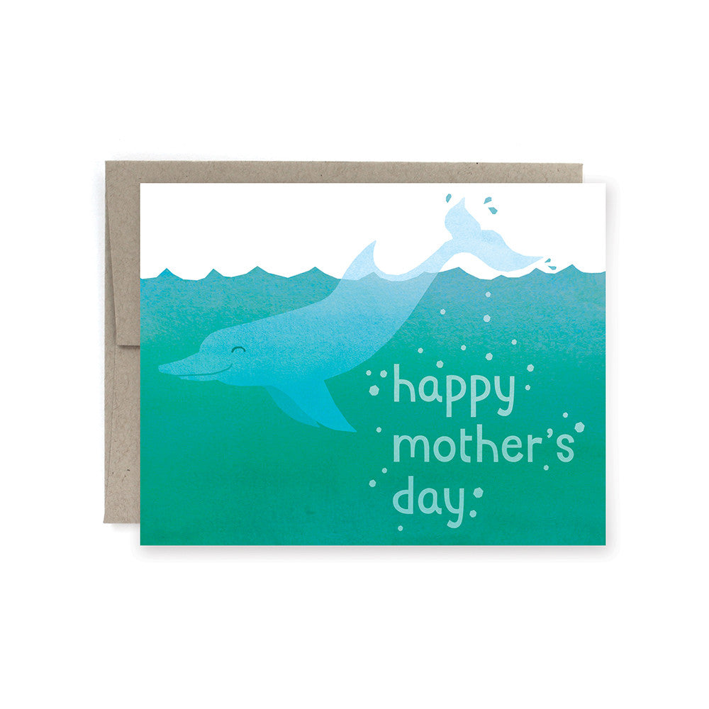 Happy Mother's Day Dolphin Card