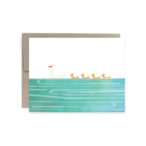 Momma Baby Ducks Card