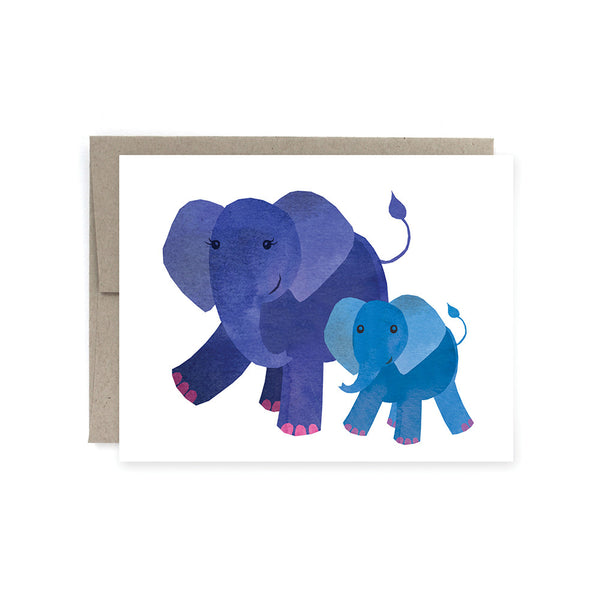 Mom & Baby Elephant Card