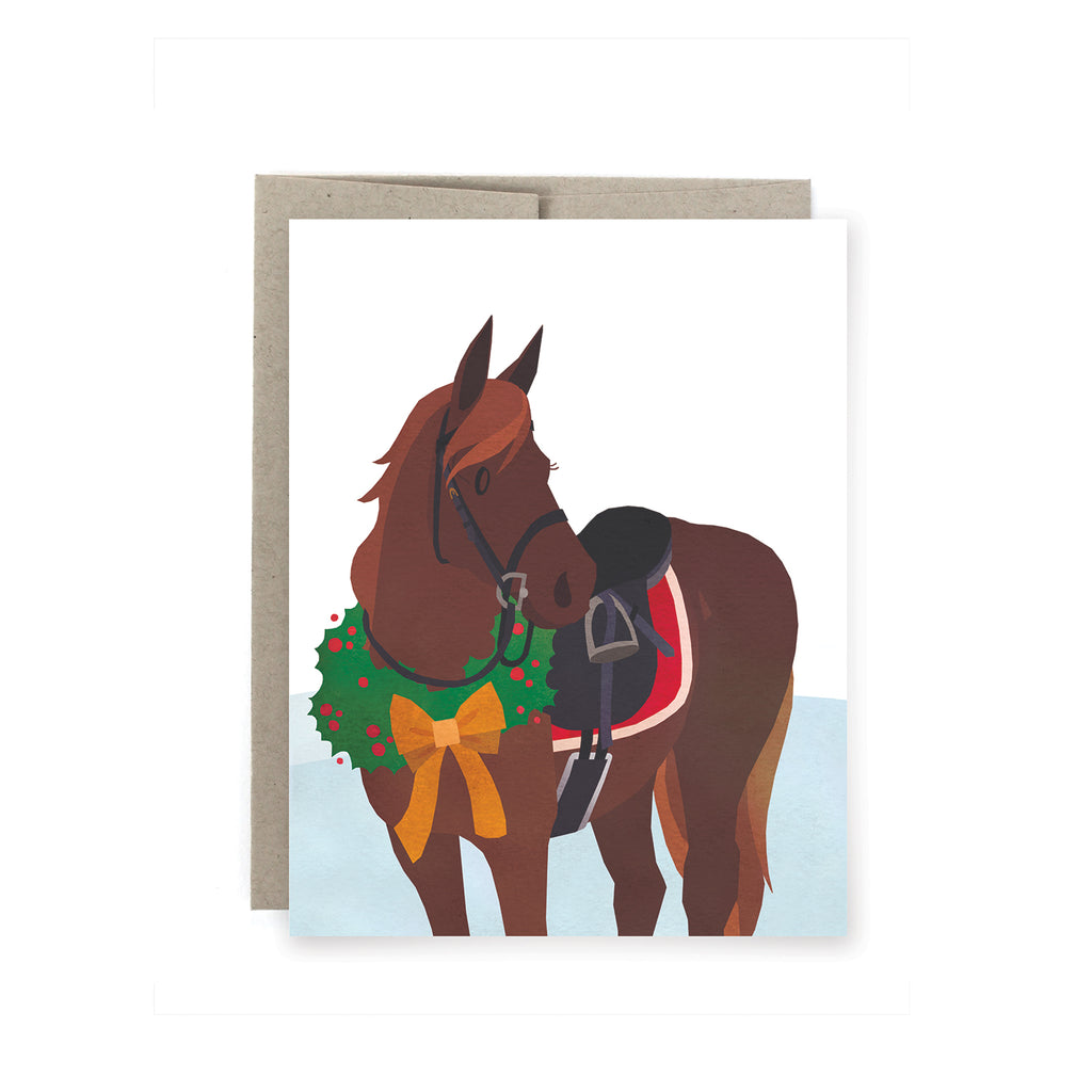Equine Christmas Holiday Card