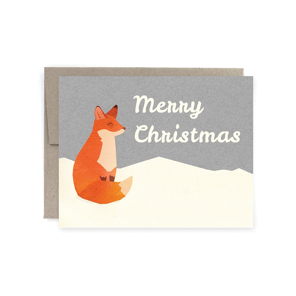 Merry Christmas Fox Card Pack