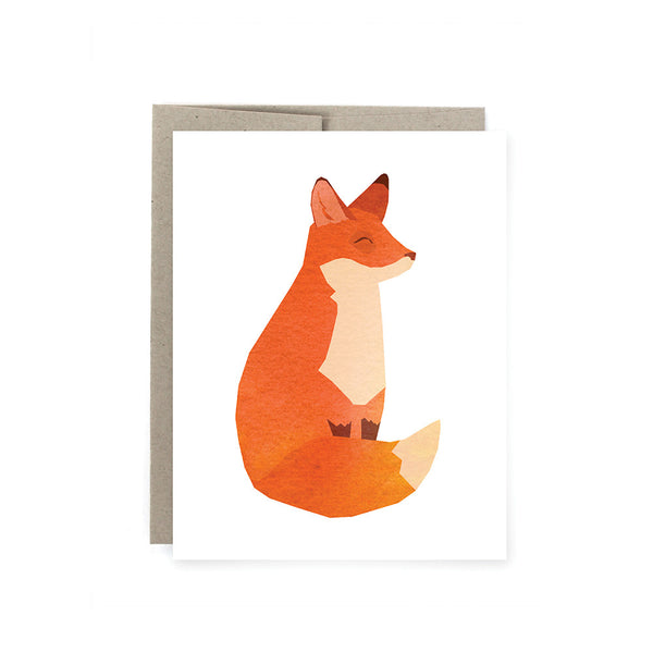 Happy Fox Card