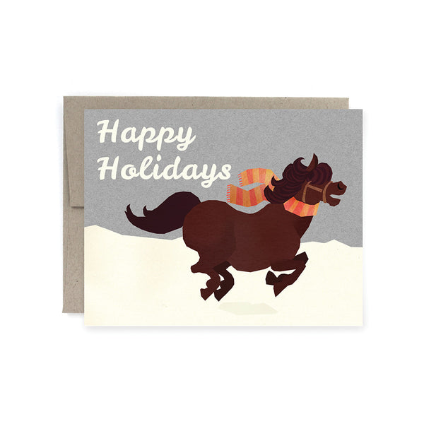 Happy Holidays Horse Card