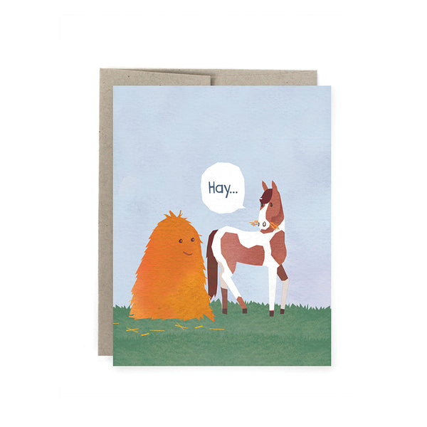 Hay 'Thanks a bunch' Card