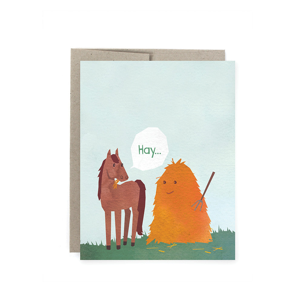Hay 'I like you' Card