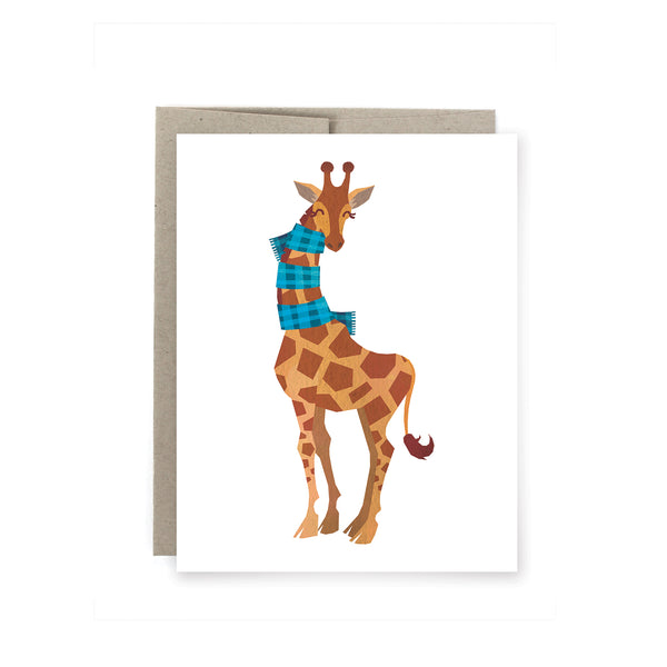 Holiday Giraffe Christmas Card