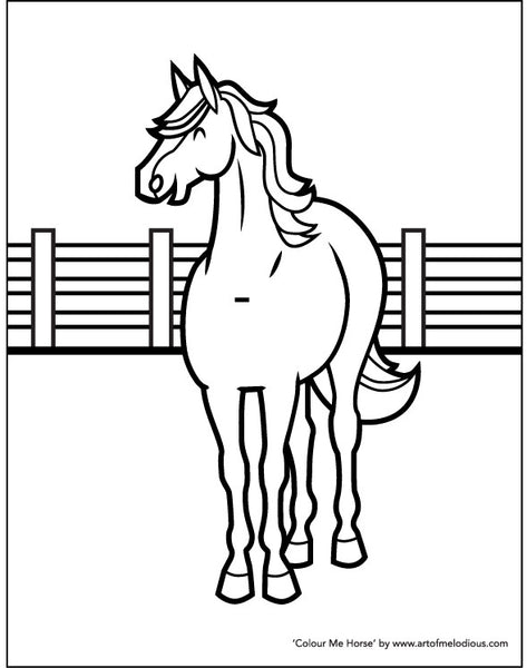 Horse Colouring Page