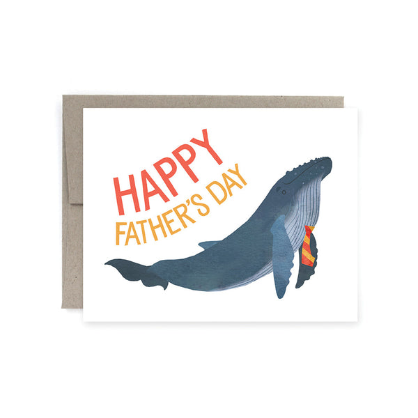 Whale Dad Father's Day Card