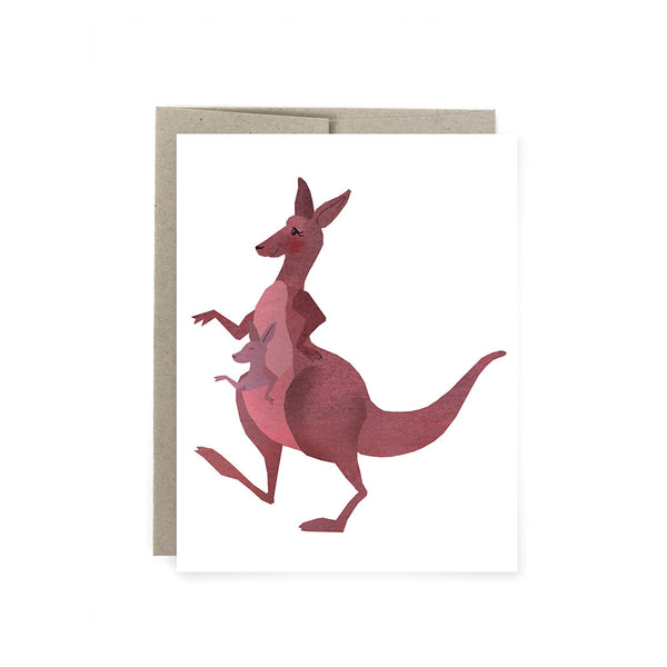 Kangaroo Momma Baby Card
