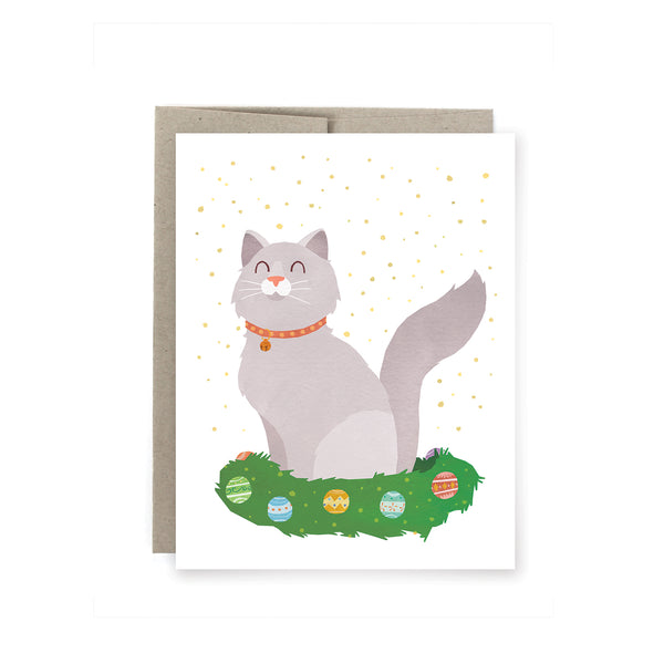 Kitty Wreath Holiday Card