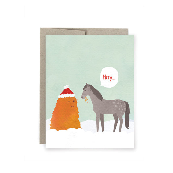 Hay 'Merry Christmas' Card