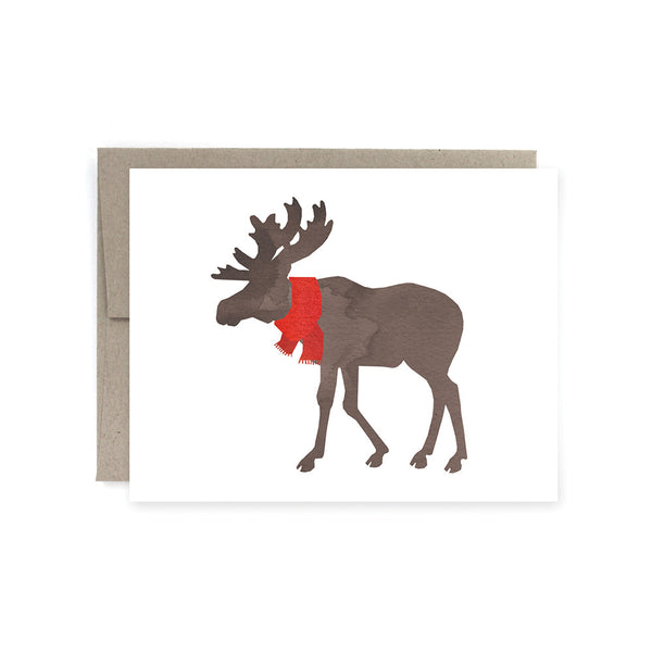 Moose Scarf Card