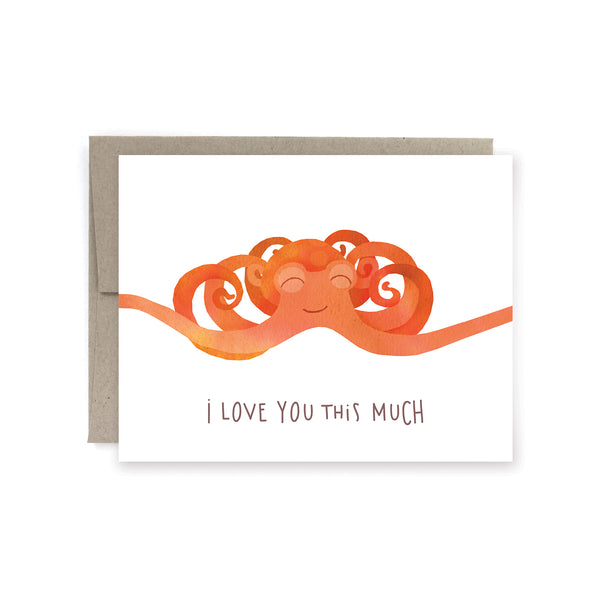 Octopus Arms Love Card