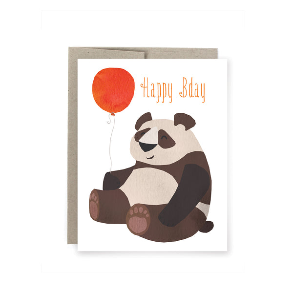 Panda Bday Birthday Card