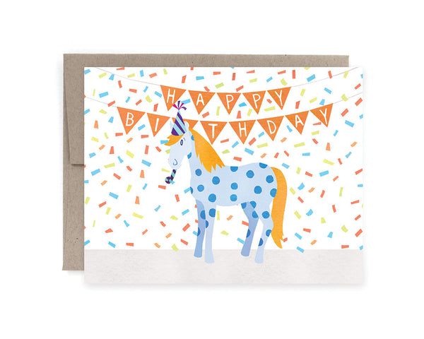 Party Pony Birthday Card