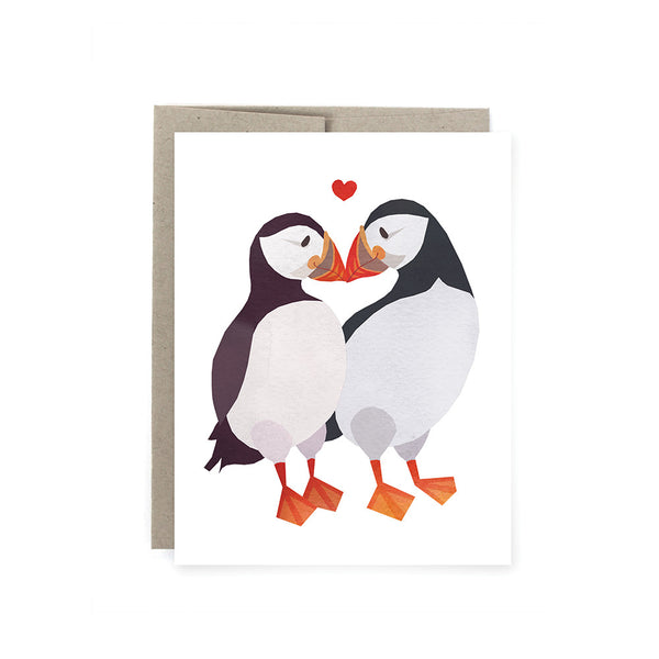 Puffin Love Card