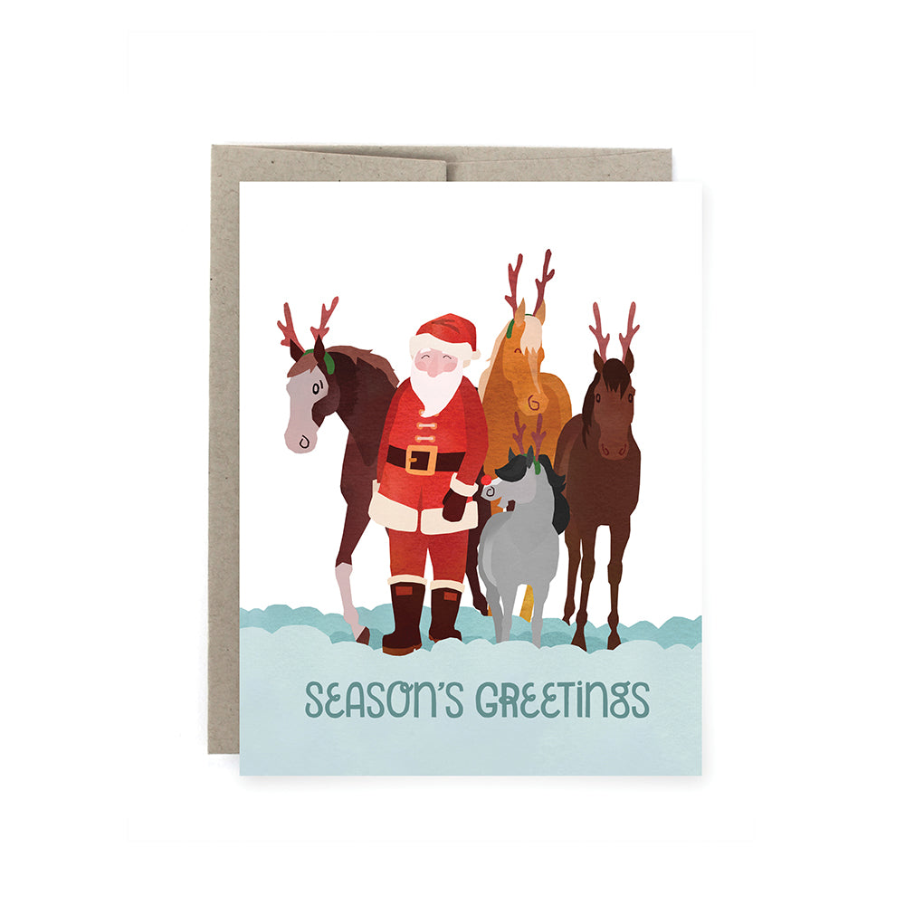 Santa Herd Holiday Card Pack