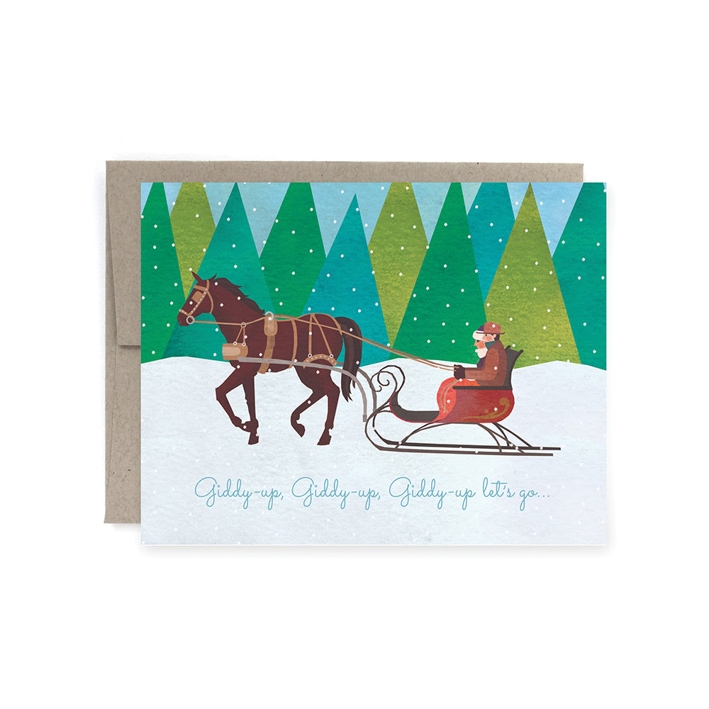 Giddy up, Let's go! Christmas Card Pack