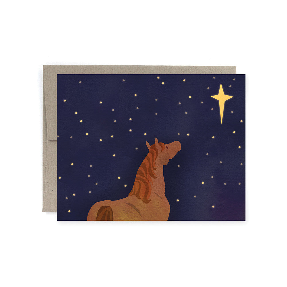 A Starry Night Christmas Card