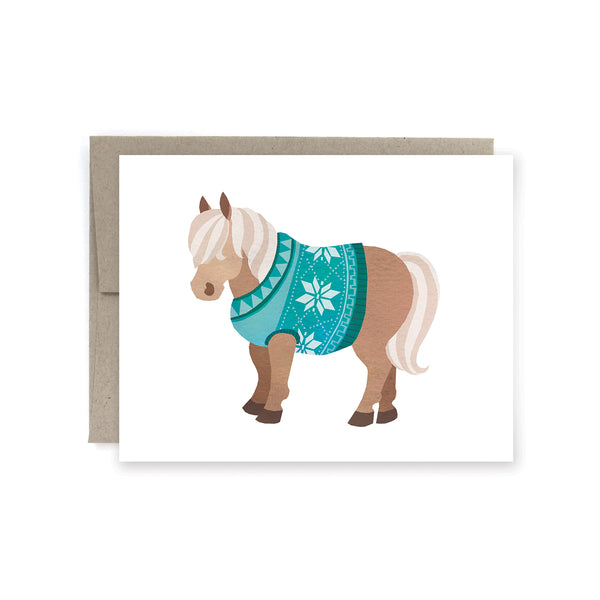 Sweater Pony Holiday Card