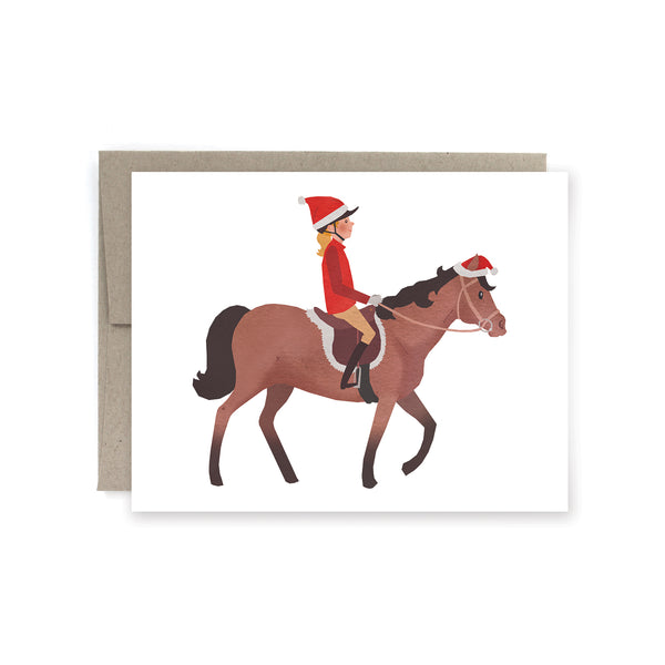 Walk Pony Holiday Card
