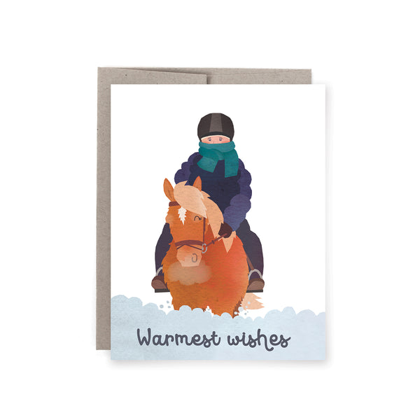Warmest Rider Holiday Card