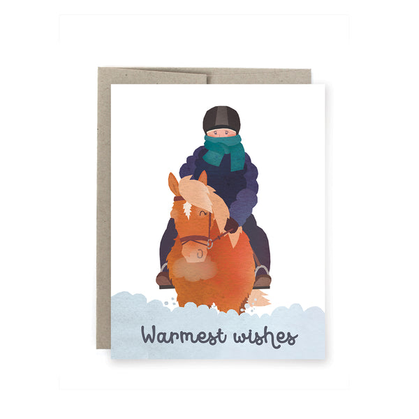 Warmest Wishes Horse Holiday Card