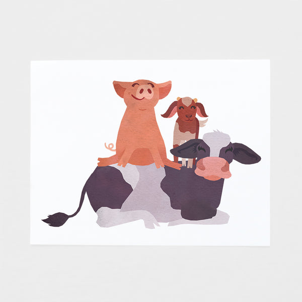 Animals Friends Art Print