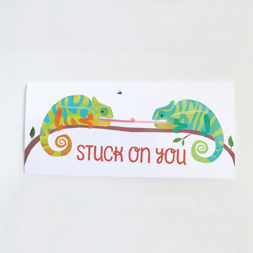 Chameleon Stuck on You Card