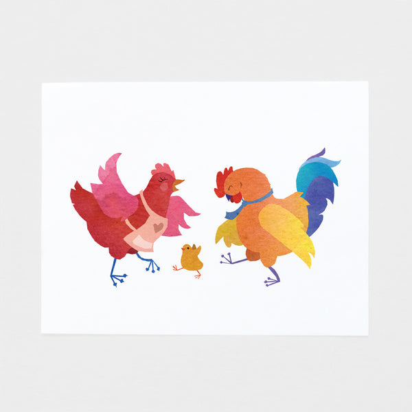 Chicken Family Art Print