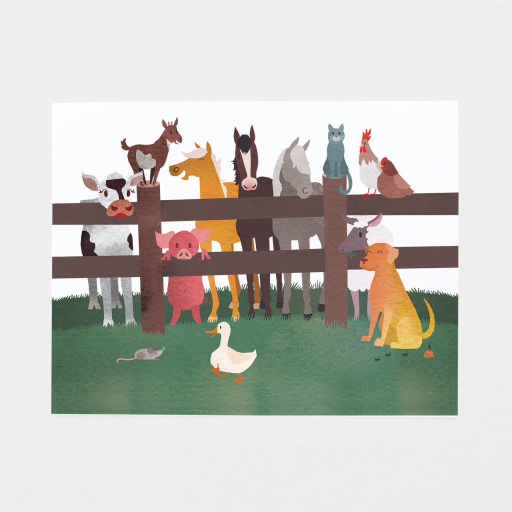 Farm Animals Art Print
