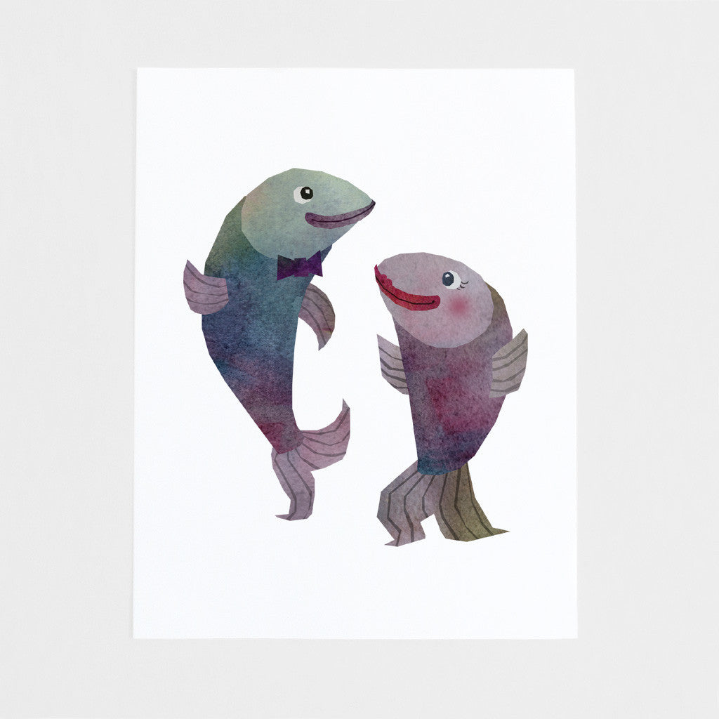 Fish Dancing Art Print