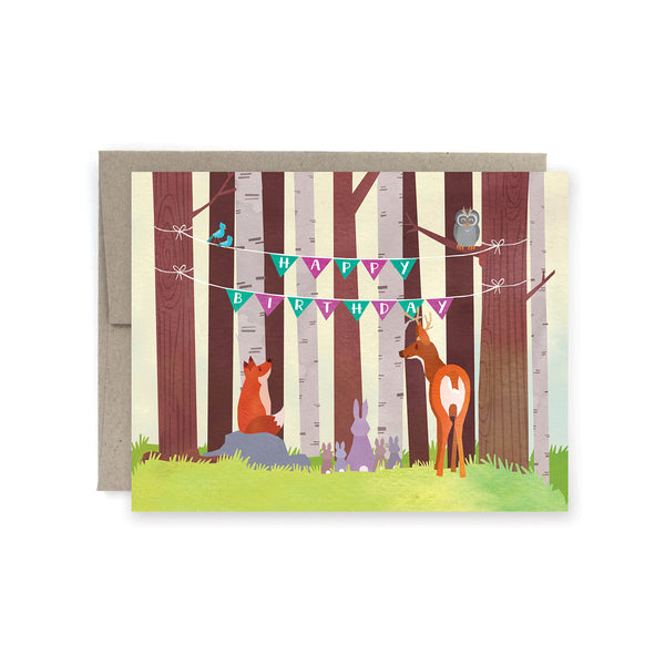 Forest Animal Birthday Card