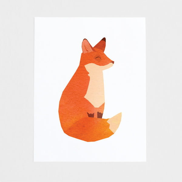 Happy Fox Art Print