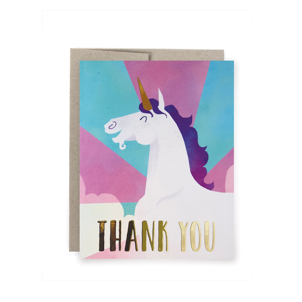 Unicorn Thank You Foil Card