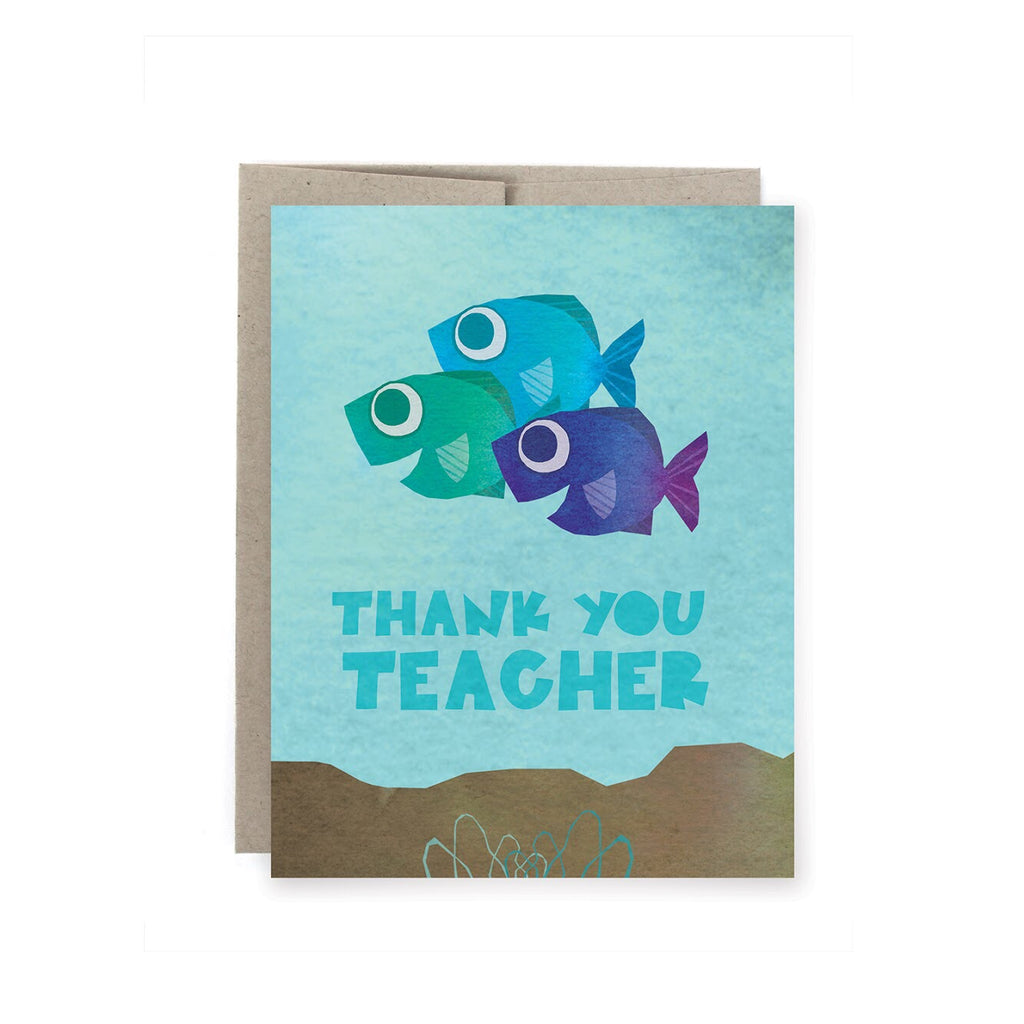 Teacher Fish Thank You Card