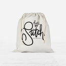 Full of Stitch / Drawstring Project Bag