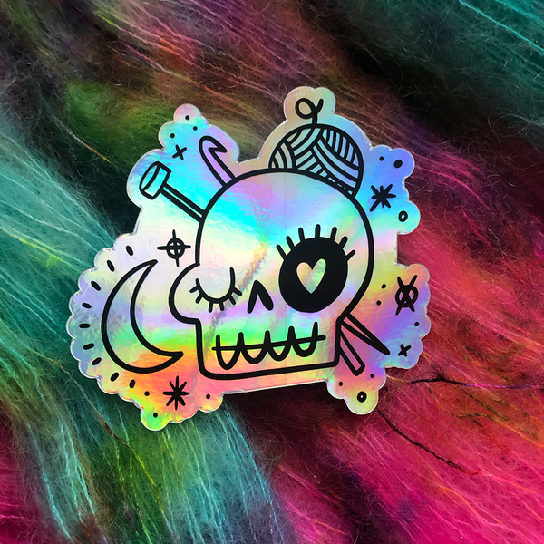 Skully Holo Sticker