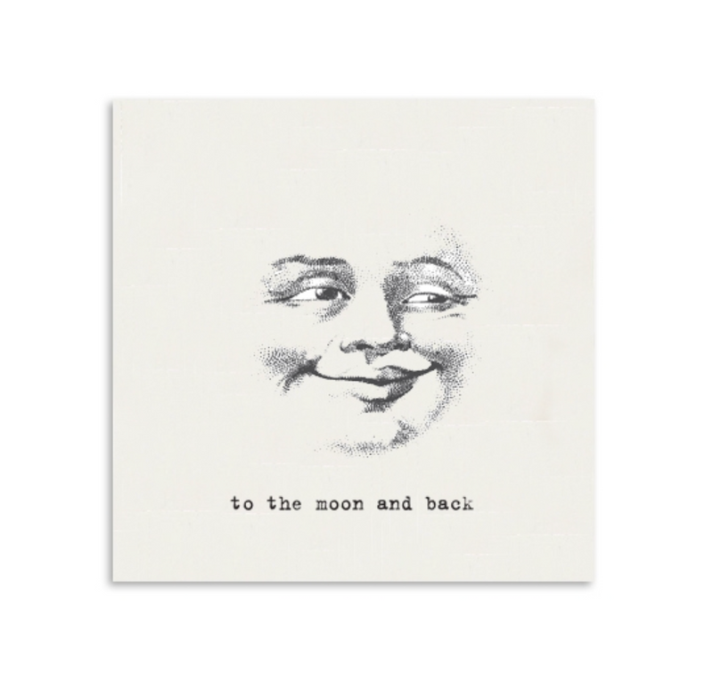To The Moon and Back Mini Notecard