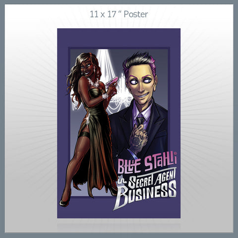 Blue Stahli - Secret Agent Business Poster
