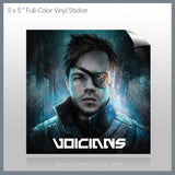 Voicians - 5x5 full Color Vinyl Sticker