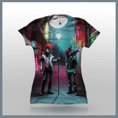 Scandroid - Old Tokyo Alleyway (2-Sided All-Over Print) Girls T-Shirt