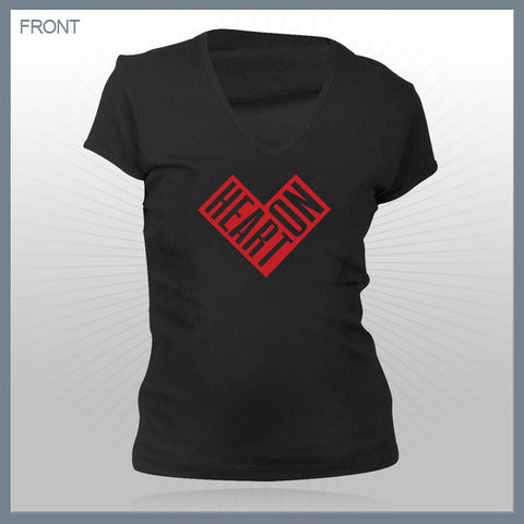 Celldweller - Heart On Girls Deep V-Neck Shirt
