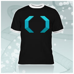 Celldweller - Cellblock Guys Black/White Ringer T-Shirt