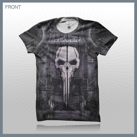 Celldweller - Skull (2-Sided All-Over-Print) T-Shirt